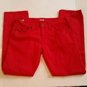 True Religion Ricky jeans Red Size 34
